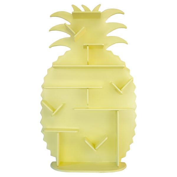 Étagère pour enfant Ananas en bois vue de face
