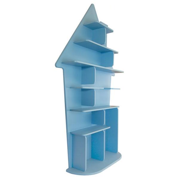 Étagère pour enfant Maison en bois vue de gauche