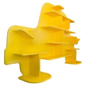 Étagère pour enfant Voiture en bois vue de gauche